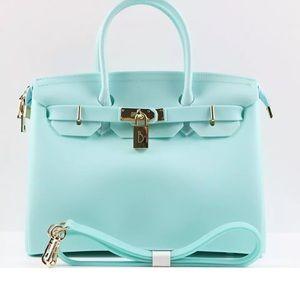 Handbags - Matte Tiffany Blue Jelly Handbag Purse bag Tote